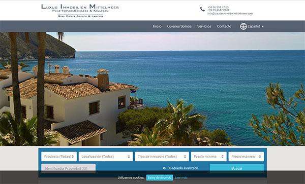 Luxus Immobilien Mittelmeer - Diseño Web Freelance Valencia