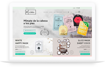 Cosmética de Corea - Diseño Web WordPress+WooCommerce Valencia