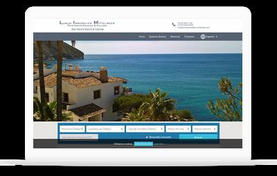 Luxus Immobilien Mittelmeer - Diseño Web WordPress+WooCommerce Valencia